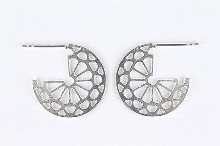 Andrea Shelley Medallion Cuff Earrings - Sterling Silver