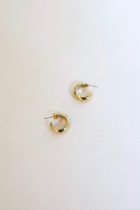 SOKO Mini Bold Hoops - Gold