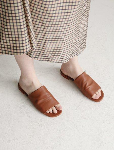 Robert Clergerie Itou Soft Sandal - Papaya Brown