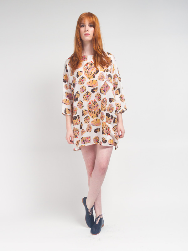 R/H  Square Dress Saari Print