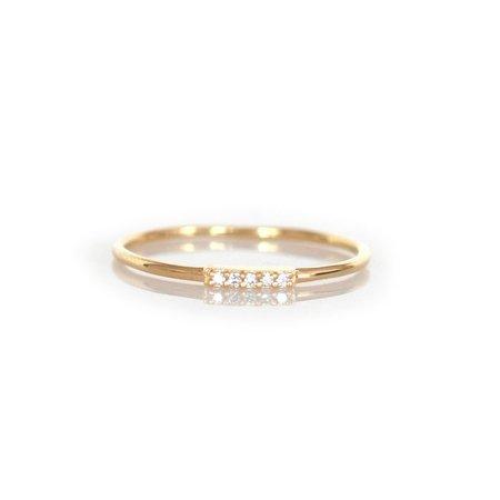 La Kaiser 14kt Gold Diamond Alinea Ring - 14kt gold/0.9mm DIAMOND