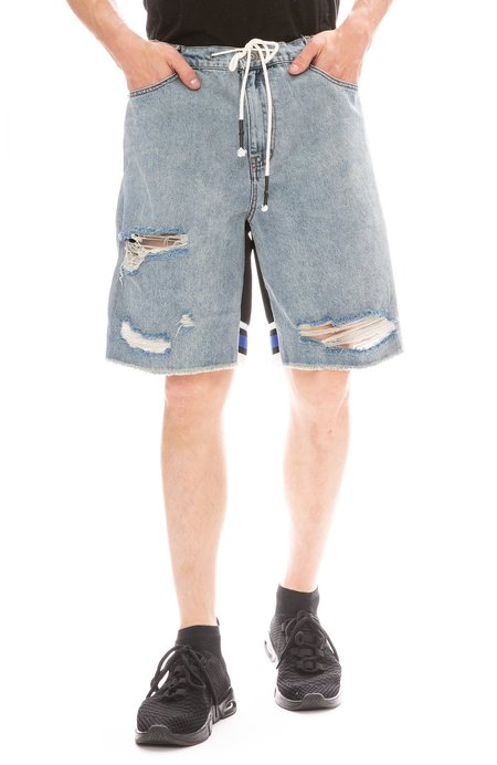 Mostly Heard Rarely Seen World Series Hybrid Shorts - Light Blue Denim