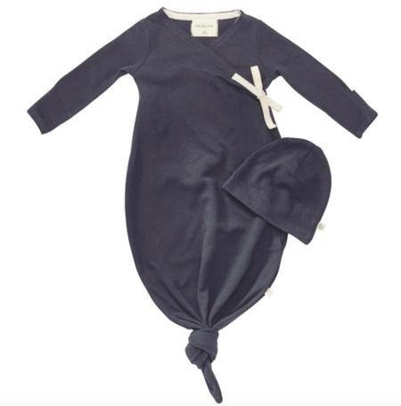 kids Bacabuche Baby Kimono and Hat - Charcoal