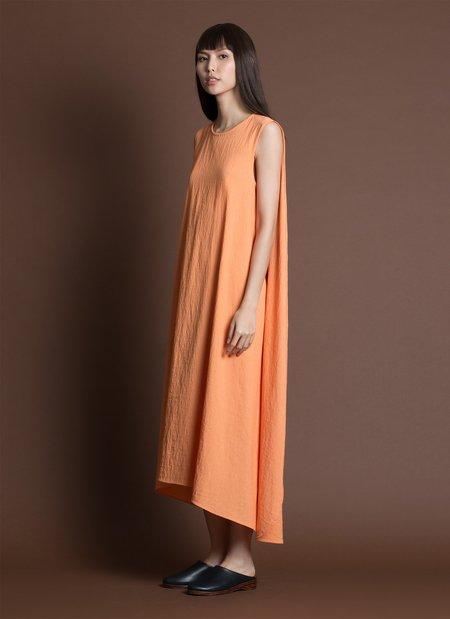 e4041360bdb9a ... KAAREM Turn Sleeveless Overlap Maxi Dress - Textured Orange