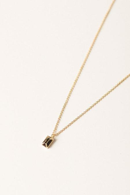 I Like It Here Club Black Onyx Necklace - Gold Plated