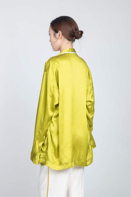 HAIDER ACKERMANN Pyjama Shirt - Dali Acid/Antibes Cream