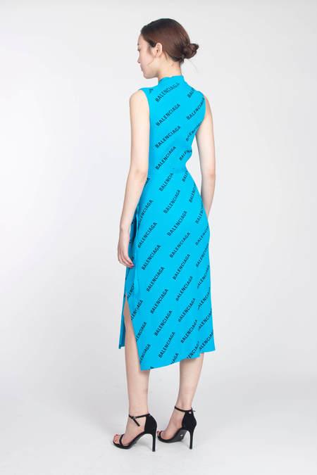 Balenciaga Rip Viscose Logo Dress