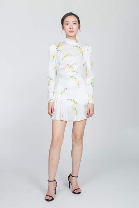 ALESSANDRA RICH Mini Dress With Ruffle - Floral Print