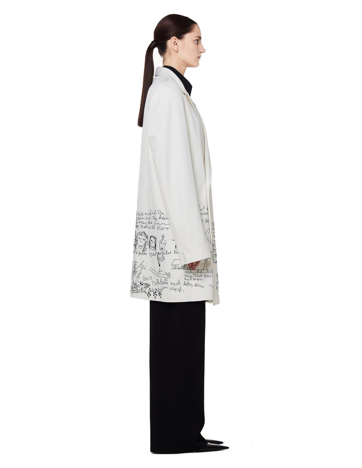 065cc29e9ae0 Unisex Enfants Riches Deprimes Manteau De Lane Embroidered Wool Coat ...
