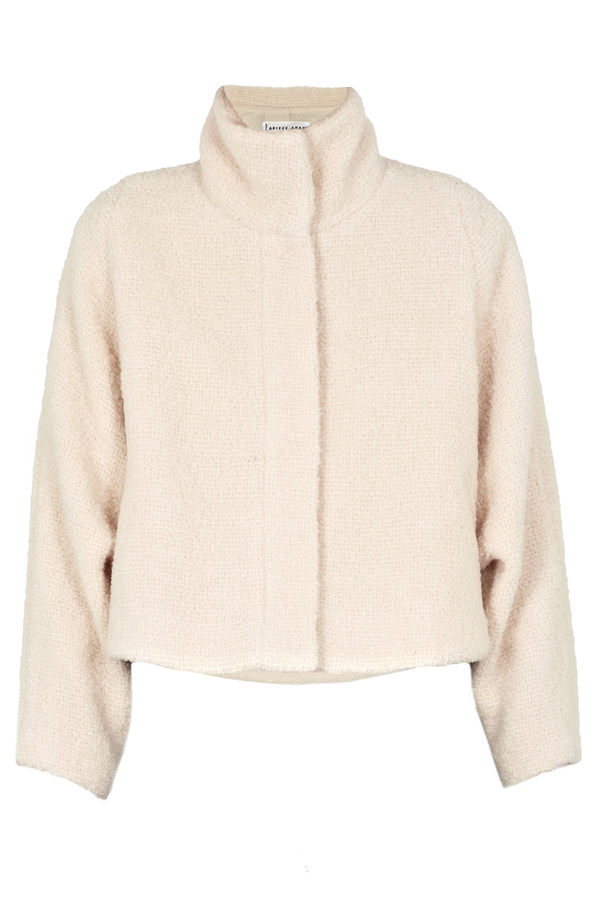 Apiece Apart Juliana Cream Cropped Blanket Coat