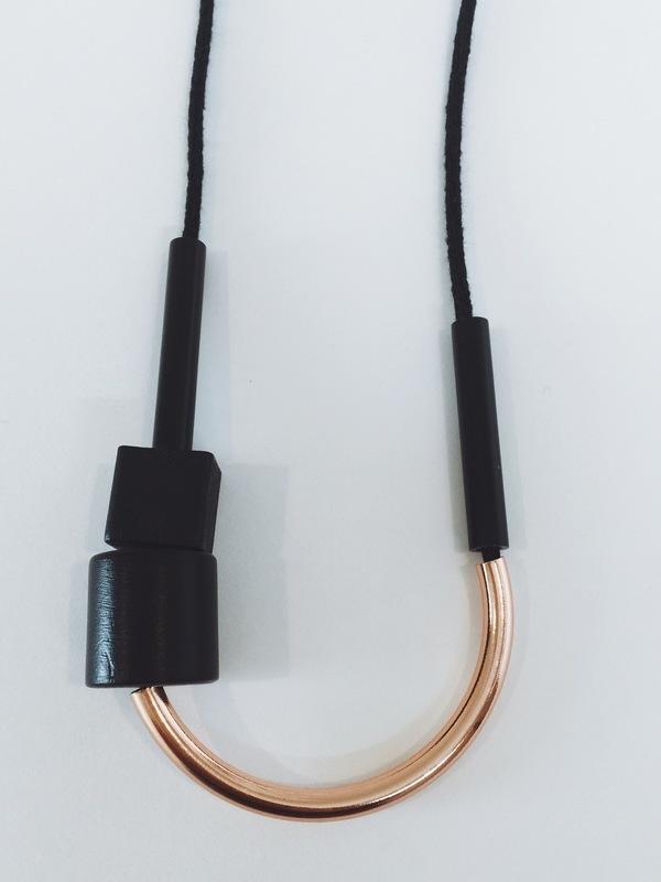 Maslo Jewelry Chock A Block Copper Black