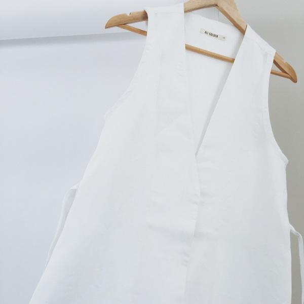 Ali Golden Long Linen Waistcoat