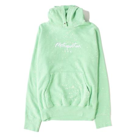 Metropolitan Classic Beach Splatter Pullover Hoodie - Mint