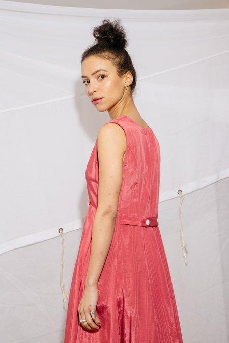 9ce104c233e Nikki Chasin SLEEVELESS BARONESS DRESS - RED MOIRE ...