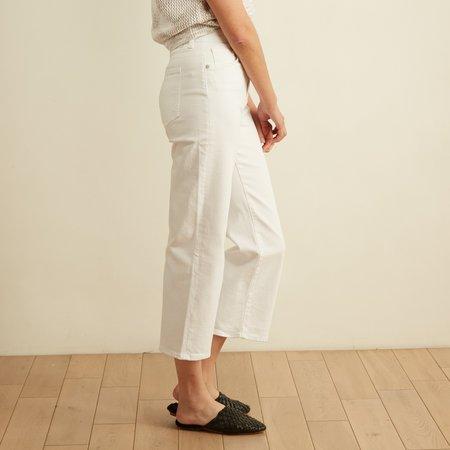 CQY Denim Sunday Wide Leg Crop Jean