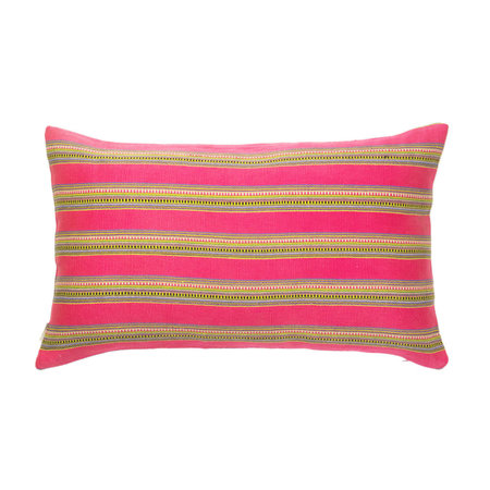 "Archive New York Zacualpa Pillow 12""x20"" - Magenta Striped"