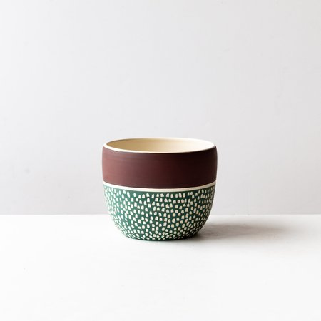 La Sauvage Hand Engraved Ceramic Flower Pot