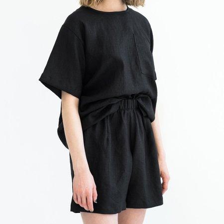 LLOYD Linen Short - Black
