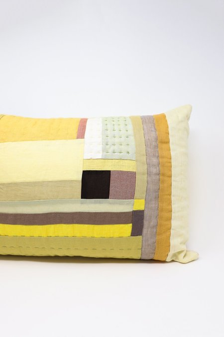 Thompson Street Studio Line Pillow - Yellow