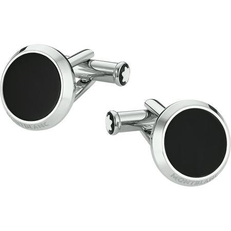 Montblanc Meisterstuck Cuff Links - Round Black Onyx