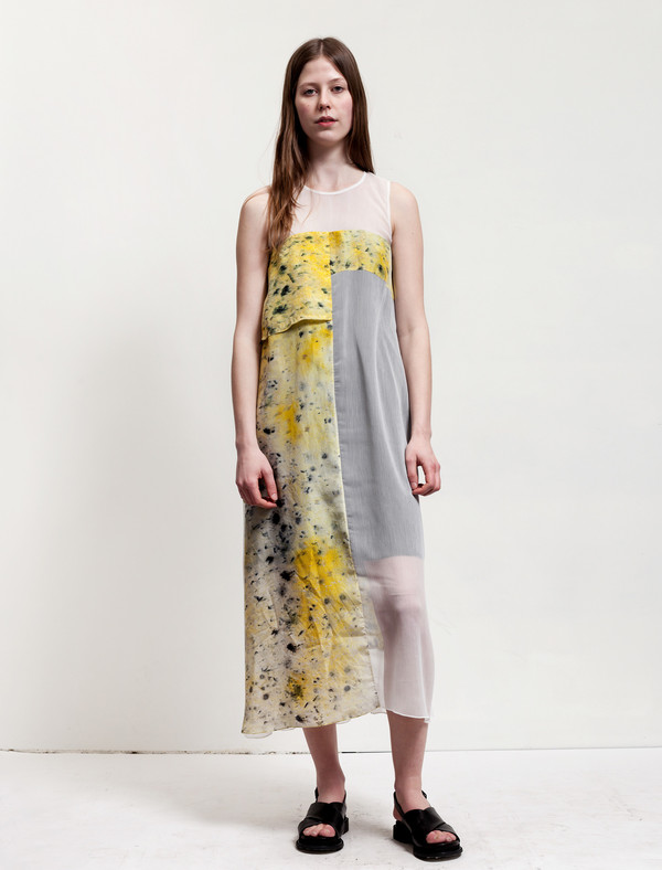 Christopher Raeburn Panelled Sleeveless Dress Saffron