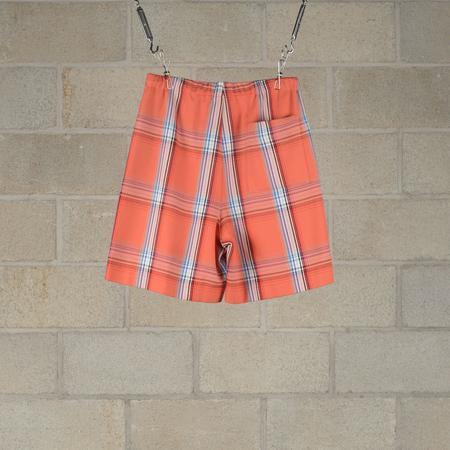 N.Hoolywood Drawstring Shorts - Orange Check