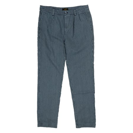 Le Mont St. Michel Striped Denim Chino Trousers