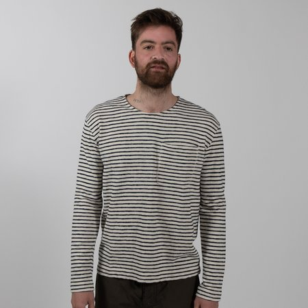 Le Mont St. Michel Striped Organic Cotton Long Sleeve