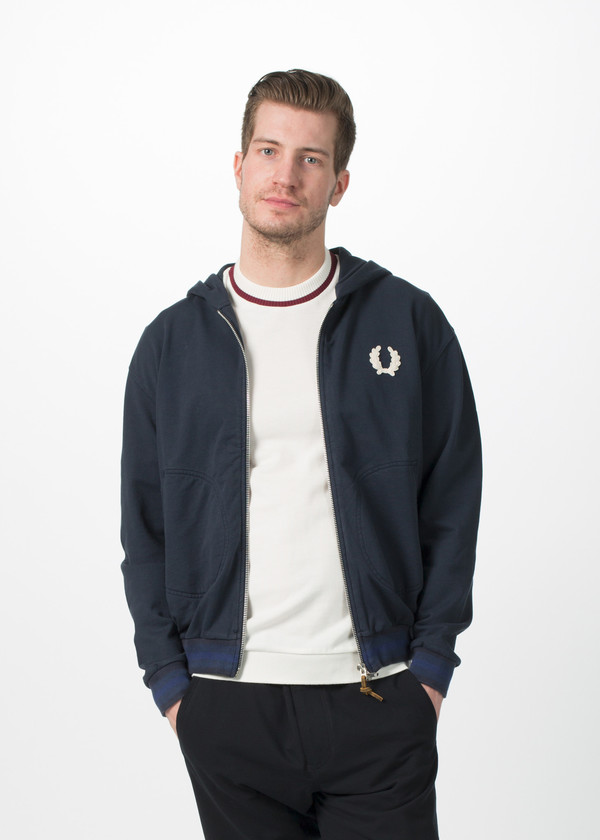 Men's Fred Perry Training Hoodie - Navy