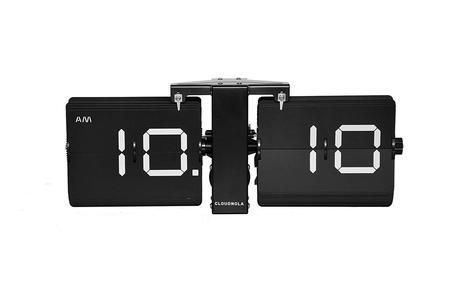 Cloudnola Black Flipping Out Clock