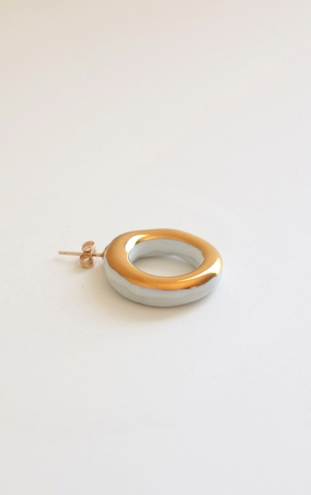 Jujumade gold ring earring