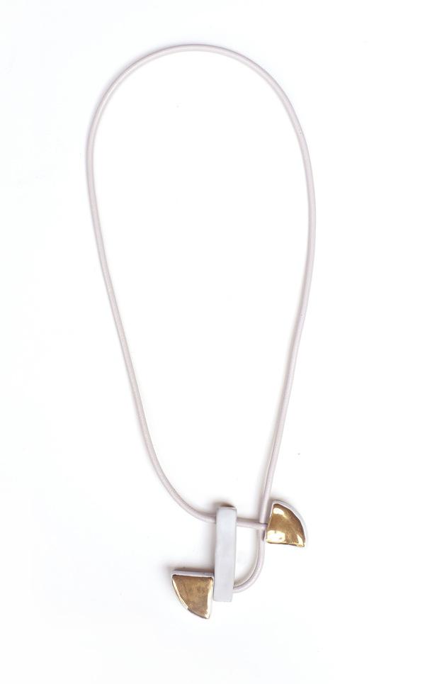 Jujumade draped gold slice necklace