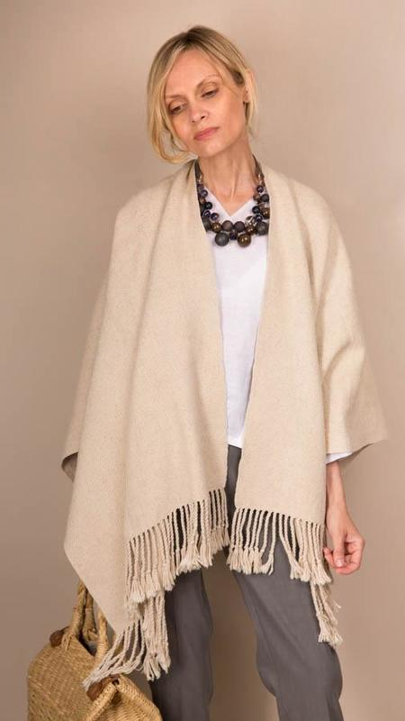 Lauren Manoogian Handwoven Summer Serape - Natural