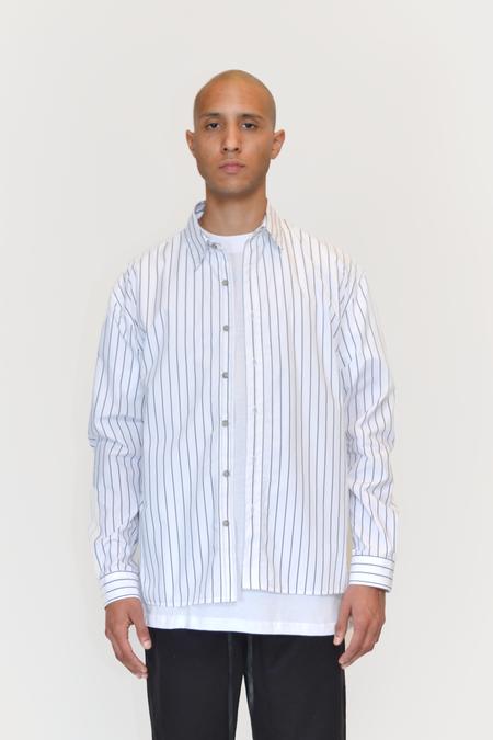 The Celect Striped Woven - White/Black Stripes