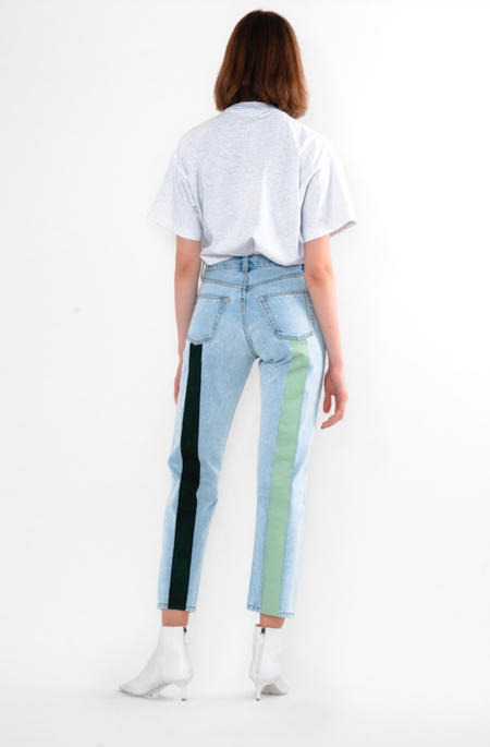 Still Here New York Hunter + Sage Tate Crop Jean - Vintage Blue