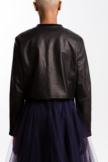 Sisii Leather Liner Jacket - Black