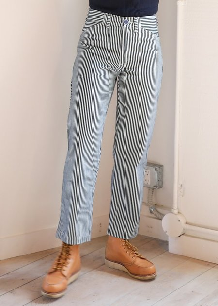 Gravel & Gold Conductor Stripe Painter Pant - Blue/Natural Striped Denim