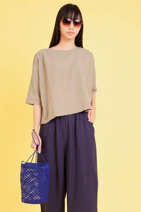 L.F.Markey Basic Linen Top - Khaki