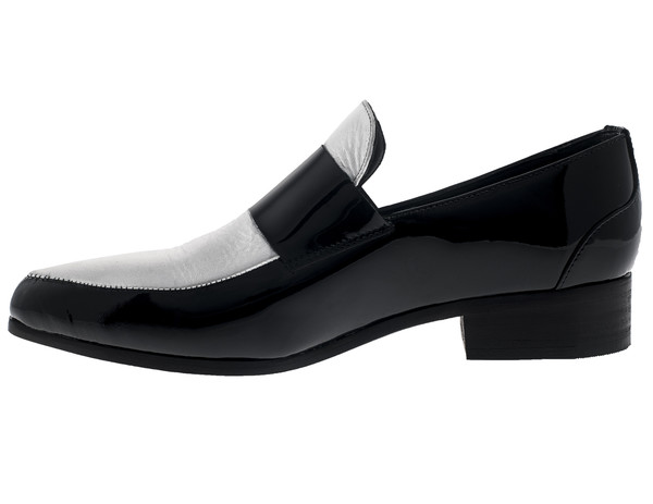 Cartel Footwear Loafer - Comala Silver and Black Patent