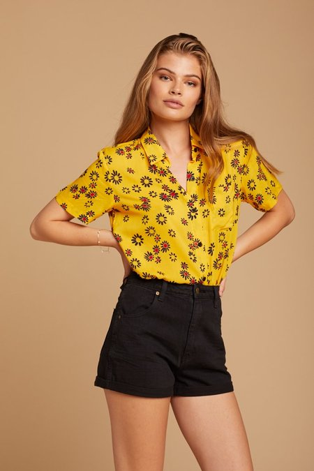 Solid and Striped Cabana Shirt - Yellow Daisy