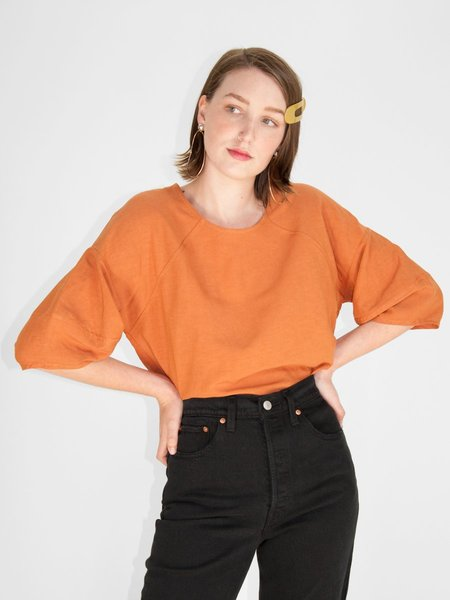 Eve Gravel Pomelo Top - Terracotta