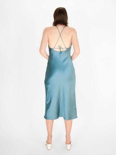 Third Form Bias High Neck Dress - Aegean