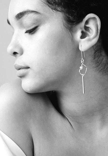 Meadowlark Small Clio Drop Earrings - silver