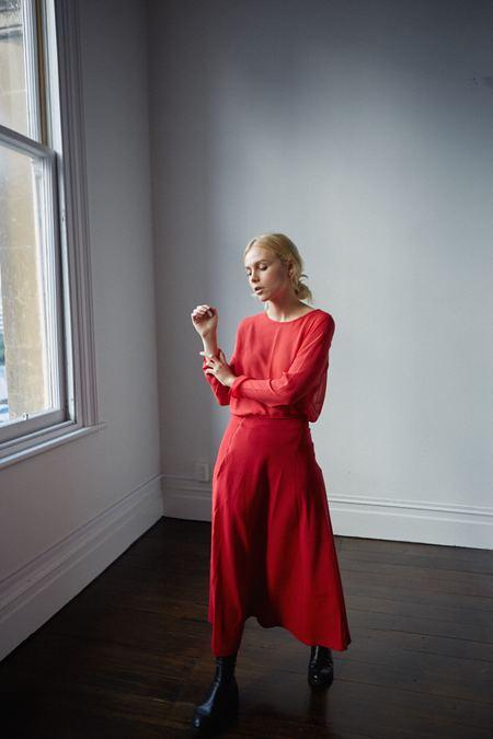 Mina Spencer Skirt - Red