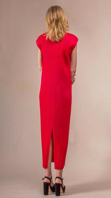 Issey Miyake Pleats Please Dress - Raspberry