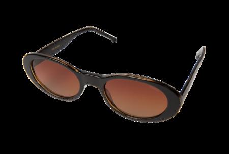 KOMONO Alina Oval Sunglasses - Black Tortoise