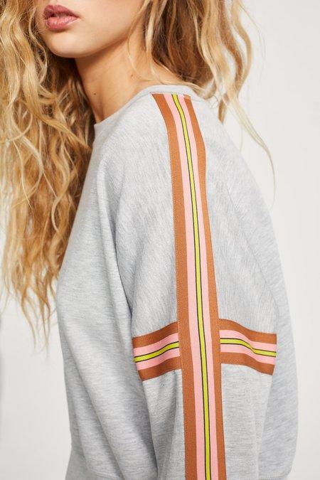 Closed Short Sweatshirt - light grey melange