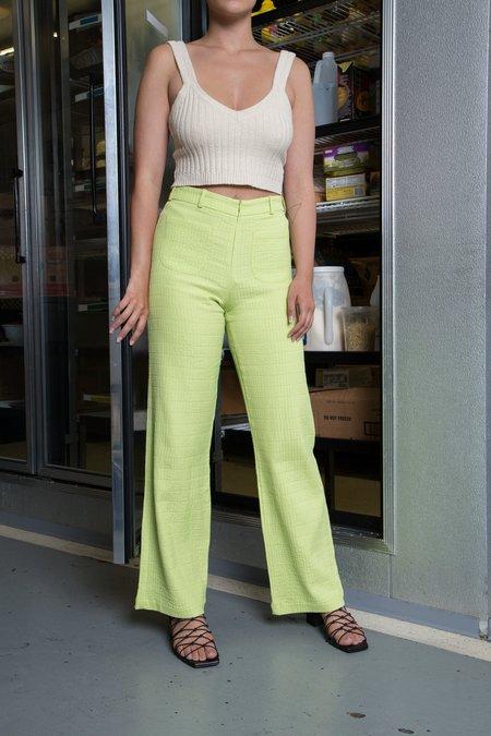 Paloma Wool Valdimontone Pant - lime green