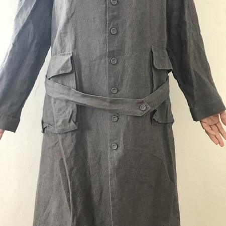 ICHI ANTIQUITES Linen Coat/Dress - Charcoal
