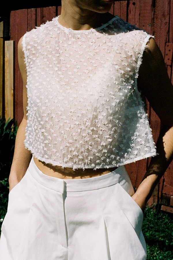 Samuji Bora Top - sleet white